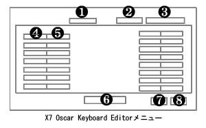 X7 Oscar Keyboard Editor